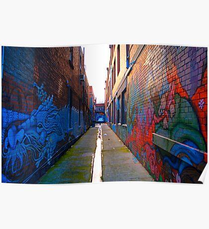 Graffiti Art - Melbourne Lane Poster