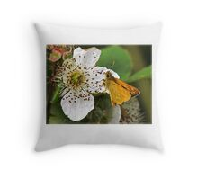 Small Skipper (Thymelicus lineola) (I) Throw Pillow