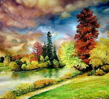 Autumn in the Park, Paris by Sorin Apostolescu
