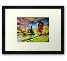 Autumn in the Park, Paris Framed Print