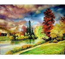 Autumn in the Park, Paris Photographic Print
