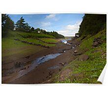 West End Ruins, Thruscross Reservoir. Poster