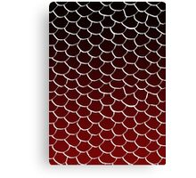 Red and Black Scales Canvas Print