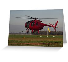 Hughes 500 Helicopter Greeting Card