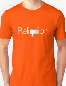 Religion? Thumbs Down!  (Dark background) Unisex T-Shirt