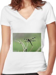 Transparent Wings Women's Fitted V-Neck T-Shirt