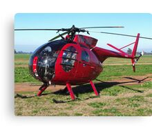 Hughes 500 Helicopter Canvas Print