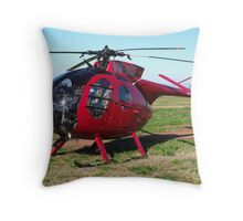 Hughes 500 Helicopter Throw Pillow