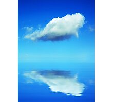 Cloud in blue sky Photographic Print