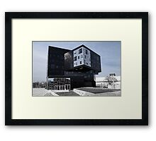 Blue Cubes - Executive Academy Nomad Wu Campus Vienna Framed Print