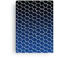 Blue and Black Scales Canvas Print