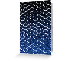 Blue and Black Scales Greeting Card