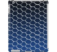 Blue and Black Scales iPad Case/Skin