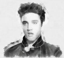 Young Elvis Presley by John Springfield  by esotericaart