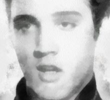 Young Elvis Presley by John Springfield  Sticker