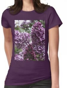 Lilac flowers  Womens Fitted T-Shirt