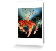 Water Lilly Greeting Card
