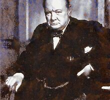 Prime Minister, Winston Churchill by John Springfield by esotericaart