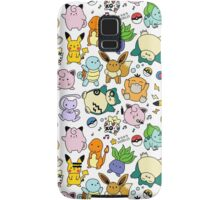 Cute Pokémon Doodle Samsung Galaxy Case/Skin
