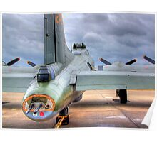 B-17 Flying Fortress G-BEDF Sally B - HDR Poster