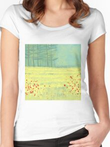 Meadow near Périgueux Women's Fitted Scoop T-Shirt
