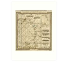 Antilles Charibbee Caribbean Virgin Isles Map (1784) Art Print