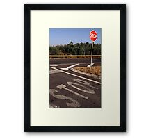 Double Stop Framed Print