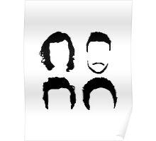 One Direction Hair Silhouette (no text) Poster