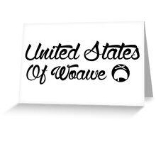 United States of Woawe Greeting Card