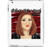 Shall We Play a Game? iPad Case/Skin