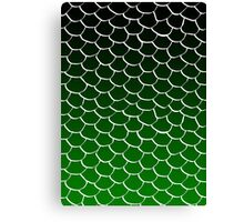 Green and Black Scales Canvas Print