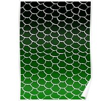 Green and Black Scales Poster