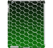Green and Black Scales iPad Case/Skin