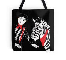Mime Zebra Tote Bag