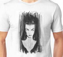 Noir Vamp Girl Unisex T-Shirt