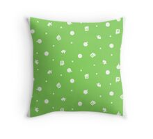 Animal Crossing Coloured Background Throw Pillow
