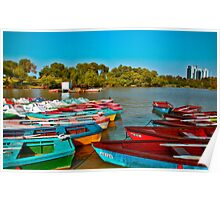 Boats on the River Poster
