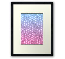 Cotton Candy Scales Framed Print