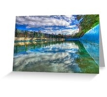 Water Level - MacCallum Pool - Cremorne Point - Sydney - Australia Greeting Card