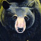 BLACK BEAR IN AUTUMN detail by Jean Gregory  Evans