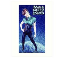 Miss Kitty Bliss, Supervillain, 2013 Art Print