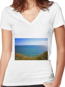 Coastal Path Women's Fitted V-Neck T-Shirt