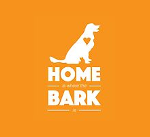 Home Is Where the Bark Is Golden Retriever Labrador Art by brightpaper