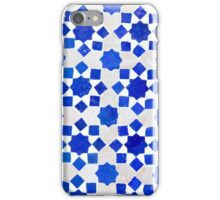 Traditional blue geometric tile iPhone Case/Skin