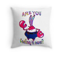 Are you feeling it now Mr Krabs? Throw Pillow