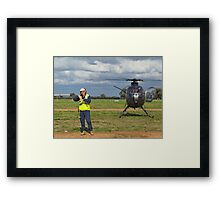 Ground Controller & Hughes 500 Helicopter Framed Print
