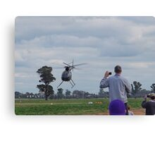 Hughes 500 Helicopter Fast Pass Takeoff Canvas Print