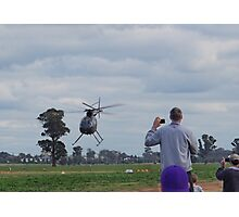 Hughes 500 Helicopter Fast Pass Takeoff Photographic Print