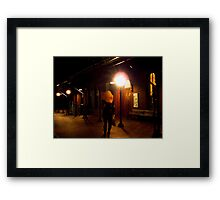 the lonely lady Framed Print