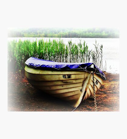 Boat On Loch Ard, Scotland. Photographic Print